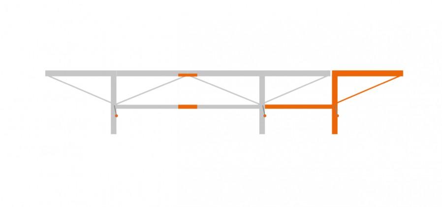 Pacchetto di prolunga da 1,0 m con 1 sollevatore di tronchi aggiuntivo, F2+