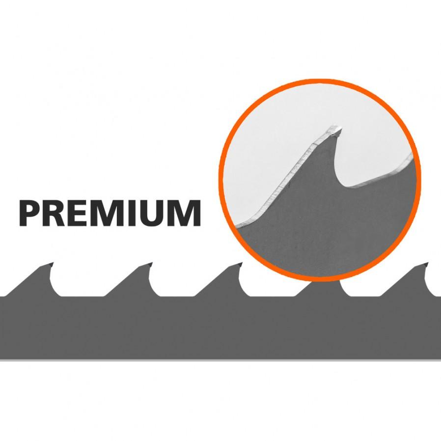 1 Lama Premium per segheria Logosol  B751  L: 3843 mm, B: 34 mm