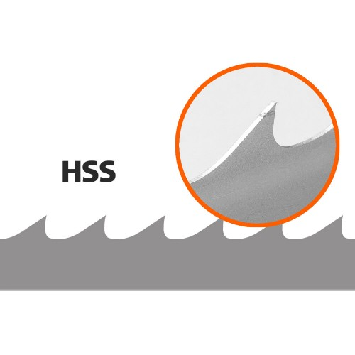 5 lame per seghe a nastro per BS350/320, lunghezza: 2760 mm, larghezza: 34 mm
